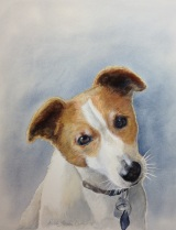 What a cutie pie ! Enjoyed painting this little guy in watercolors !
