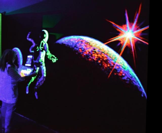 debb painting space scene